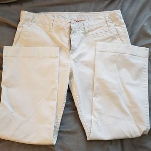 Tory Burch White Cropped Pants